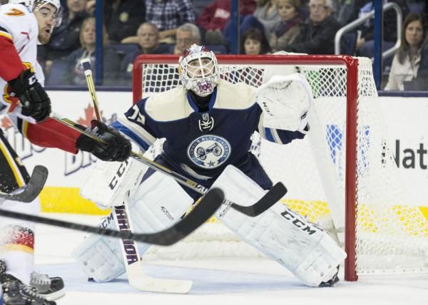 NHL: OCT 17 Flames at Blue Jackets