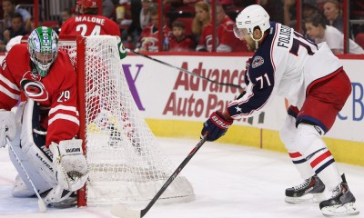 NHL: SEP 21 Preseason - Blue Jackets at Hurricanes