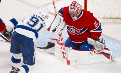 NHL: APR 22 Stanley Cup Playoffs - First Round - Lightning at Canadiens - Game 4
