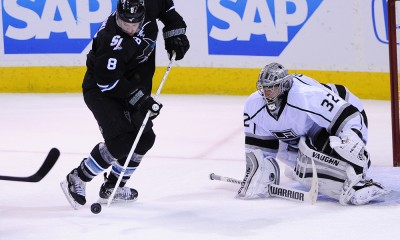NHL: APR 26 Stanley Cup Playoffs - First Round - Kings at Sharks - Game 5