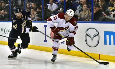 NHL: FEB 10 Coyotes at Blues