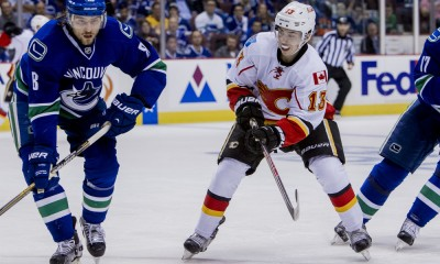 NHL: APR 15 Round 1 - Game 1 - Flames at Canucks