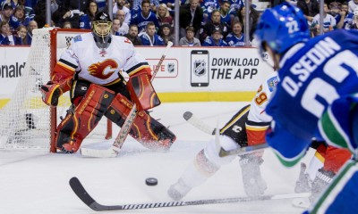 NHL: APR 23 Round 1 - Game 5 - Flames at Canucks