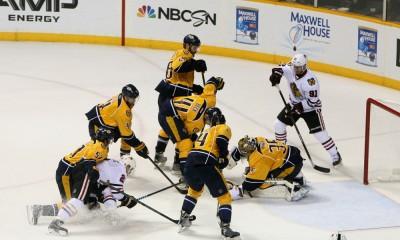 NHL: APR 17 Round 1 - Game 2 - Blackhawks at Predators