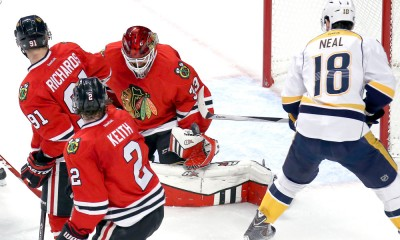 NHL: APR 21 Round 1 - Game 4 - Predators at Blackhawks