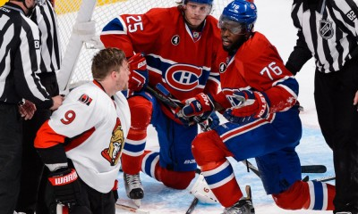 NHL: APR 17 Round 1 - Game 2 - Senators at Canadiens