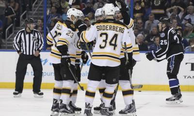 NHL: APR 11 Bruins at Lightning