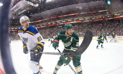 NHL: APR 20 Round 1 - Game 3 - Blues at Wild