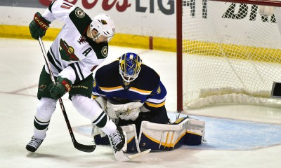 NHL: APR 24 Round 1 - Game 5 - Wild at Blues