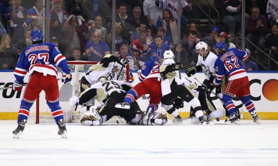 NHL: APR 18 Round 1 - Game 2 - Penguins at Rangers
