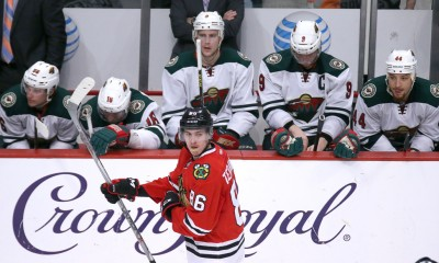03 May 2015:  Chicago Blackhawks Right Wing Teuvo Teravainen (86) [9532] in action during game 2 of round 2 of the Stanley Cup Playoffs between the Minnesota Wild and the Chicago Blackhawks at the United Center, in Chicago, IL.