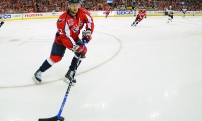 08 April 2015:  Washington Capitals defenseman Mike Green (52) in action at the Verizon Center in Washington, D.C. where the Washington Capitals defeated the Boston Bruins, 3-0.