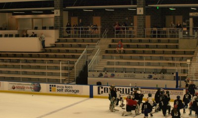 Fans, family and League commissioner Dani Rylan look on during the NWHL Buffalo Beauts training camp at HarborCenter Arena. Mandatory Photo Credit: Kaitlin S. Cimini