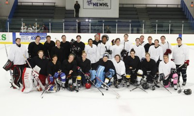 NWHL Boston Pride free agent training camp attendees, among them, several currently-rostered Blades players. Mandatory Photo Credit: Right Angle Studios