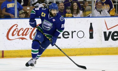 June 7, 2015: Utica Comets left wing Cory Conacher (89). The Manchester Monarchs defeated the Utica Comets 2-1 (OT) in Game 2 of the Eastern Conference Finals of the 2015 AHL Calder Cup playoffs at Verizon Wireless Arena in Manchester, NH.