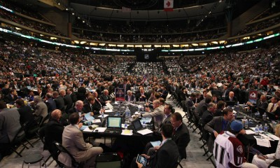 24 June 2011: A general view of the floor during the 2011 NHL Entry Draft at the Xcel Energy Center in St. Paul, Minnesota.