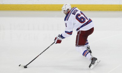 20 May 2015: New York Rangers left wing Rick Nash (61) skates with the puck during game 3 of the Stanley Cup Playoff Eastern Conference Finals between the New York Rangers and Tampa Bay Lightning at Amalie Arena in Tampa, FL
