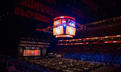 27 June 2014: Overall view of the 2014 NHL Draft at the Wells Fargo Center in Philadelphia, PA.