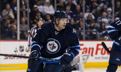 16 Dec 2014  Jets Paul Postma (4) during the Winnipeg Jets vs Buffalo Sabres game at the MTS Centre in Winnipeg MB.