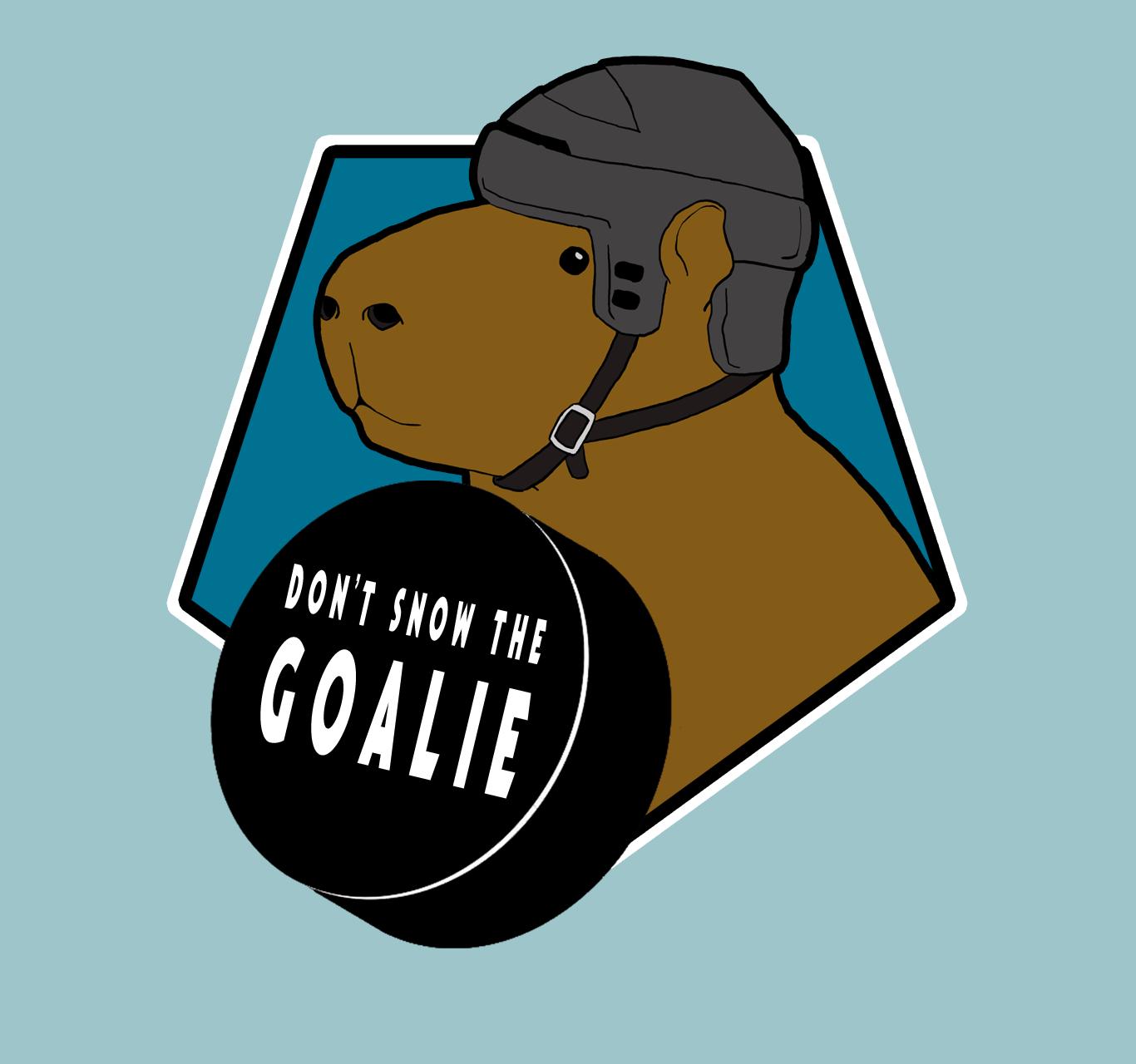 Don't Snow The Goalie logo
