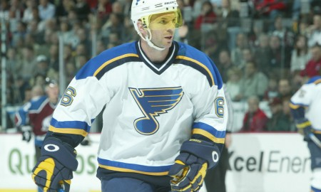 February 26, 2004: Eric Weinrich of the St. Louis Blues during the 2-2 tie to the Colorado Avalanche at the Pepsi Center in Denver, Colorado. Mandatory Credit/ Icon SMI