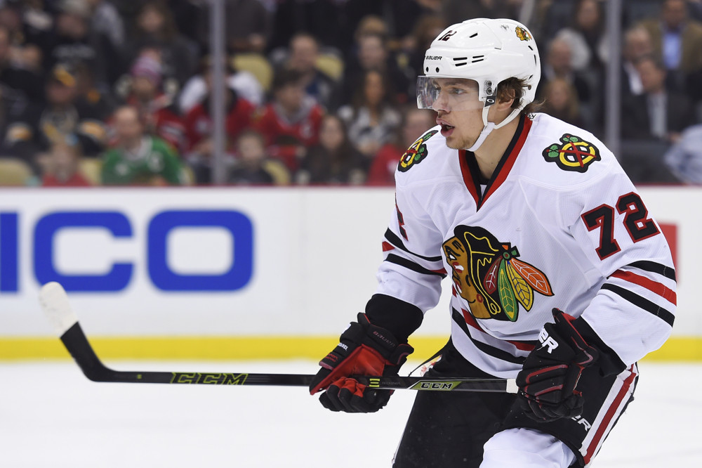 5 January 2016: Chicago Blackhawks left wing Artemi Panarin (72) skates during the first period in the Chicago Blackhawks 3-2 win against the Pittsburgh Penguins at the Consol Energy Center in Pittsburgh, Pennsylvania. (Photo by Jeanine Leech/Icon Sportswire)