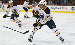 January 20 2016: Buffalo Sabres center, Phil Varone (84) during a regular season NHL game between the Colorado Avalanche and the visiting Buffalo Sabres at the Pepsi Center in Denver, CO. (Photo by Russell Lansford/Icon Sportswire)