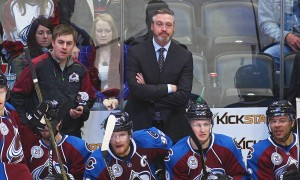 March 03 2016: Colorado Avalanche Head Coach, Patrick Roy during a regular season NHL game between the Colorado Avalanche and the visiting Florida Panthers at the Pepsi Center in Denver, CO. (Photo by Russell Lansford/Icon Sportswire)