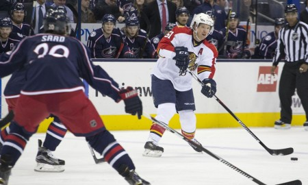 Feb 27, 2016; Columbus, OH, USA; Florida Panthers defenseman Brian Campbell (51) passes the puck during the game against the Columbus Blue Jackets at the Nationwide Arena.(Photo Credit: Jason Mowry/Icon Sportswire)