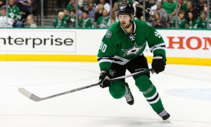 29 APR 2016: Jason Spezza (90) of the Dallas Stars during game 1 of the NHL Stanley Cup round 2 playoffs between the St. Louis Blues and the Dallas Stars at American Airlines Center in Dallas, TX. (Photo by: Andrew Dieb/Icon Sportswire)