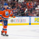 12 Oct 2016: Oilers Capitan Connor McDavid #97 of the Edmonton Oilers prepares for a penalty shot during the Calgary Flames versus the Edmonton Oilers hockey game in the 2016/17 Oilers season opener hockey game in Rogers Place in Edmonton, Alberta. (Photo by Curtis Comeau/Icon Sportswire)