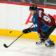 Colorado Avalanche right wing Mikko Rantanen skates against the Minnesota Wild during the third period of an NHL hockey game Thursday, Oct. 8, 2015, in Denver. Minnesota beat Colorado 5-4. (AP Photo/Jack Dempsey)